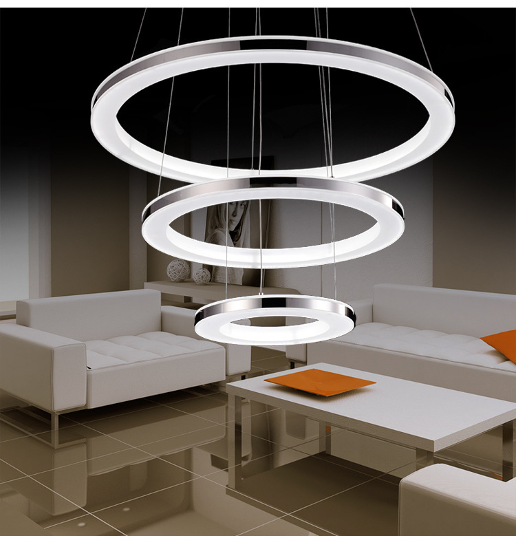 Simple modern chandelier led office lighting fashion atmosphere personalized custom ring living room chandelierSimple modern chandelier led office lighting fashion atmosphere personalized custom ring living room chandelier