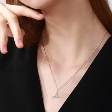 YFN Genuine 925 Sterling Silver 26 Capital Letter Crystal CZ Pendant Necklace Fashion Jewelry Gift For Women