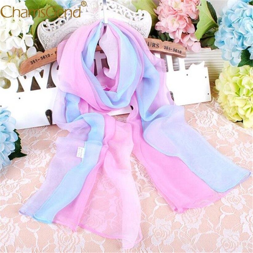 Free Shipping Light Pink Blue   Scarf   Women Fashion Neck   Wraps   Shawls Chiffon   Scarves   80712