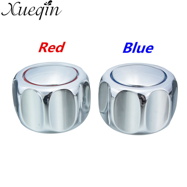Xueqin One Pair Heavy Round Metal Handle Tap Top/Head Chrome Plated ...