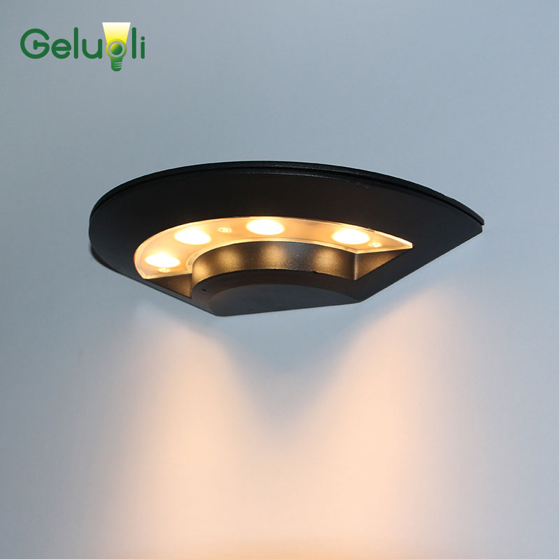 Outdoor lighting wall mounted UFO led wall lamps for door gate garden wall AC85 265V