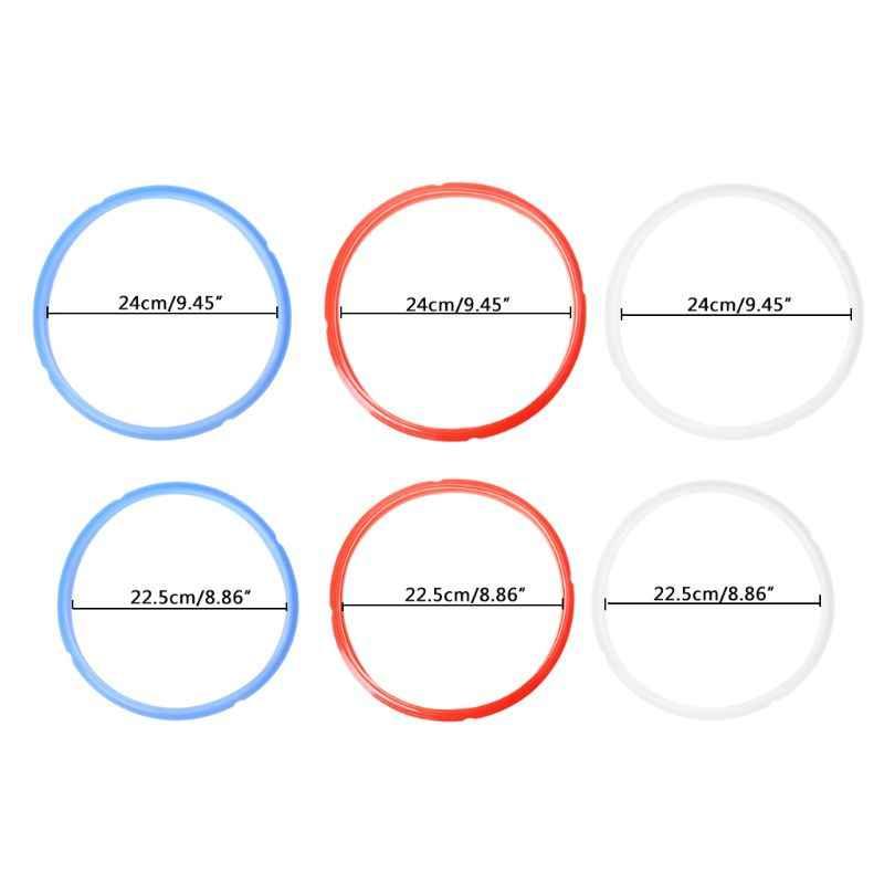 Bague d'étanchéité en Silicone 6/8 Quart pour Pot instantané autocuiseur électrique rouge/bleu/blanc