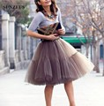 Hot Sale 5 Layers Tulle Petticoat Adult Tutu Skirts Vintage 50s Dresses Wedding Underskirt Jupon