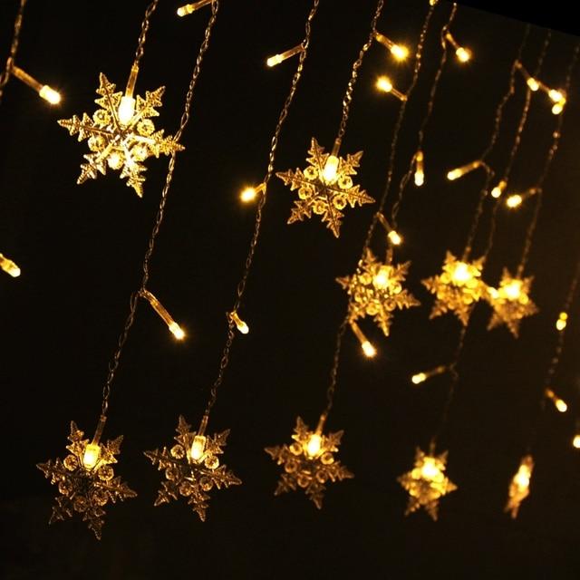 creative lighting windows decoration store decoration night light christmas decoration 5 meters snowflakes festival led lights