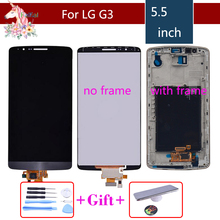 lcd complete Screen for LG G3 LCD Touch Screen Digitizer Assembly for LG G3 Display D850 D851 D852 D855 D858 Replacement 100% brand new tested original touch screen digitizer lcd display screen frame for lg g3 d855d850 replacement part free shipping