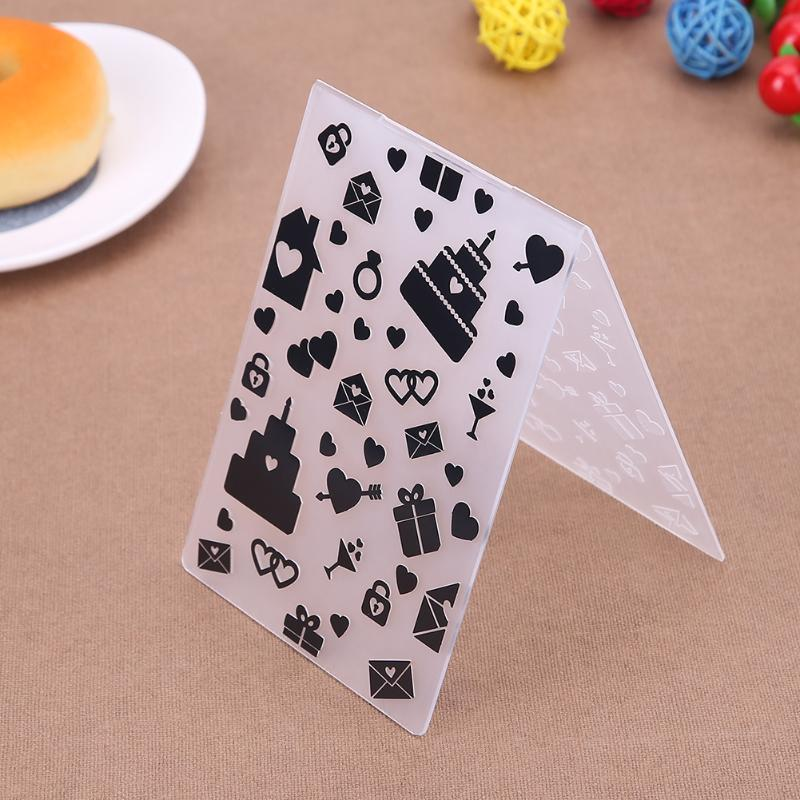 Birthday Cake Embossed Mold Plastic Embossing Folders DIY Scrapbooking Paper Craft Card Making Decorations Cookie Stencil Suppl