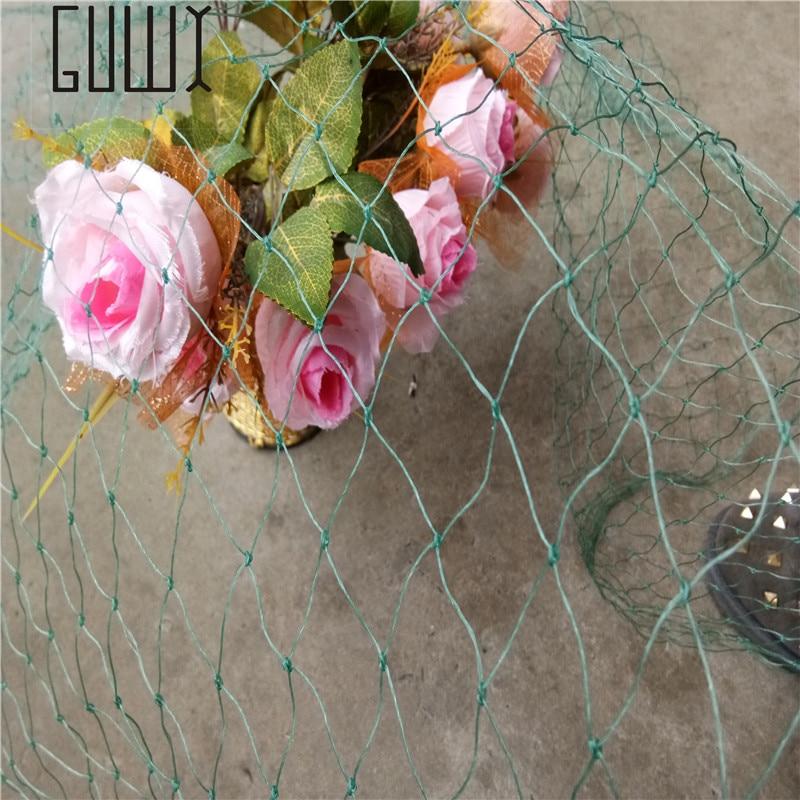 1.5 m * 3 m plastic mesh vine plants Garden fence mesh Garden ornaments Green and blue Gardening net ...