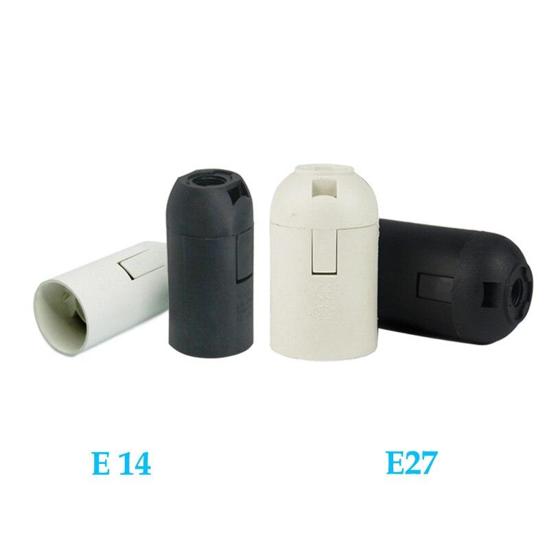 10PCS High Quality White Black 2A 250V E14 / E27 Screw Card-type Lamp Holder CE Certification E14 E27 Socket