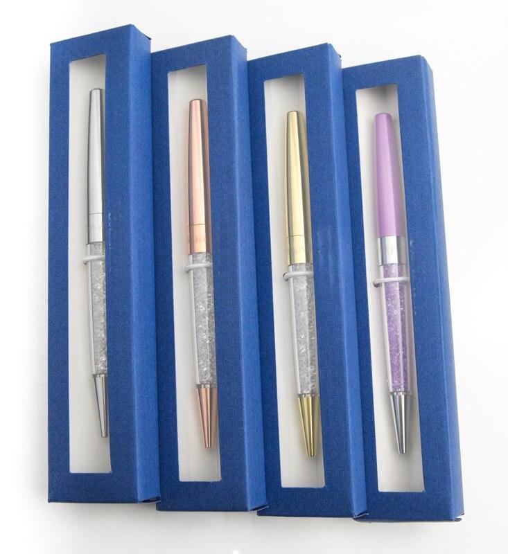 Nouveau stylo à bille en cristal dame étudiant joli cadeau cristaux stylo avec boîte cadeau logo