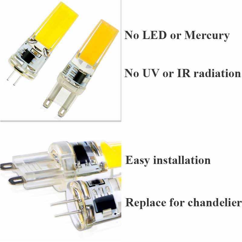 Lampe à Led E14 g4 Led 12 v 9 w ampoules 12 volts G9 Led 220 v Dimmable COB Silicone 360 Angle remplacer halogène projecteur lustre