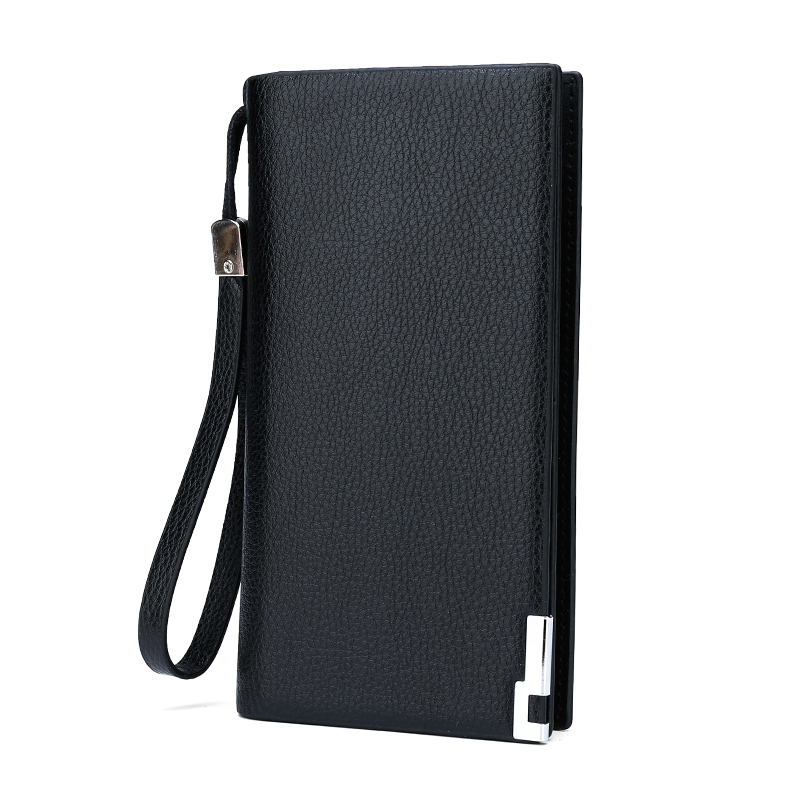 Coin Purse Men Wallets Walet Card-Holder Pocket Long-Clutch High-Quality Zipper Male