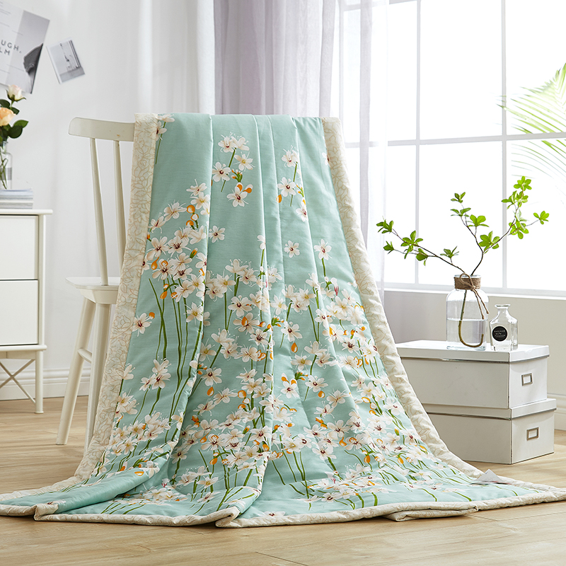 Svetanya Cotton Throws Blanket Floral Print Summer Comforter Kids Adults stiching Quilt (No Pillowcase) GreenSvetanya Cotton Throws Blanket Floral Print Summer Comforter Kids Adults stiching Quilt (No Pillowcase) Green