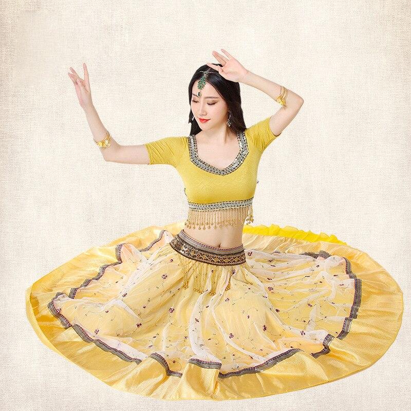 Nouvelle Arrivée Bollywood Costumes De Danse Mis Indien Sari Robe De Danse Du Ventre Costume Indien Costume Pour Femmes Danse Sari Voile Gilet