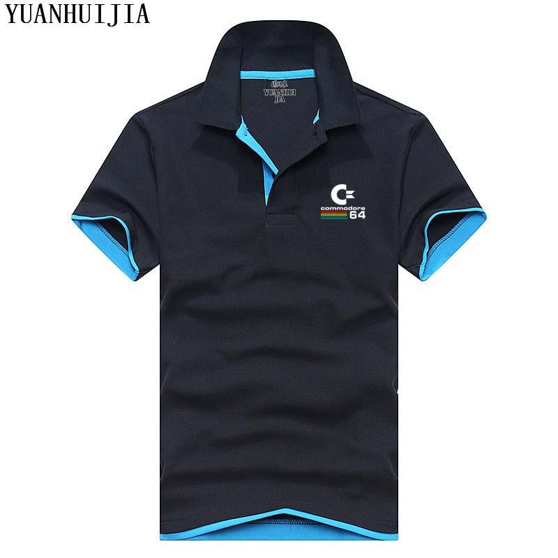 2017 new hot selling brand clothing men   polo   shirts men o neck Commodore64 print short sleeves shirts   polos   men casual tops tees