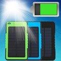 Горячая 8000 мАч Портативный Водонепроницаемый Солнечной Банк Силы Резервная Батарея Зарядки Для Телефона 3 Цвет Оптовая
