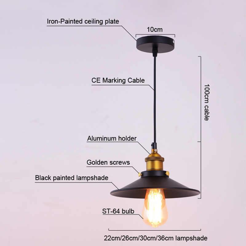 Лофт американский винтажный подвесной светильник медный держатель лампы E27 110/220 В антикварный подвесной светильник для домашнего декора ресторанное освещение