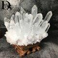 Cluster de quartzo claro natural nunatak decoração cristal branco cluster dryse geode reiki coluna cura ponto radiação resistente
