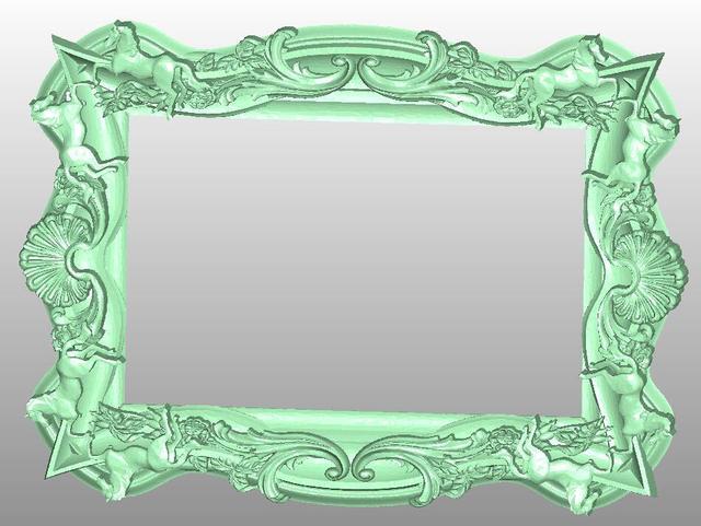 Foto marco 3D modelo de alivio para CNC en formato de archivo STL ...