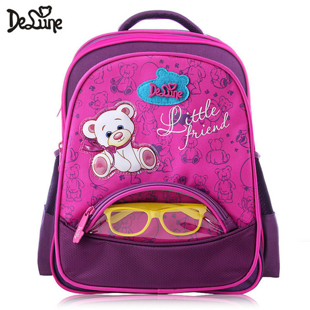 Delune famous brand DA series 5-8 years old girls boys fashion new school bags for kids cartoon bear book schoolbag backpack