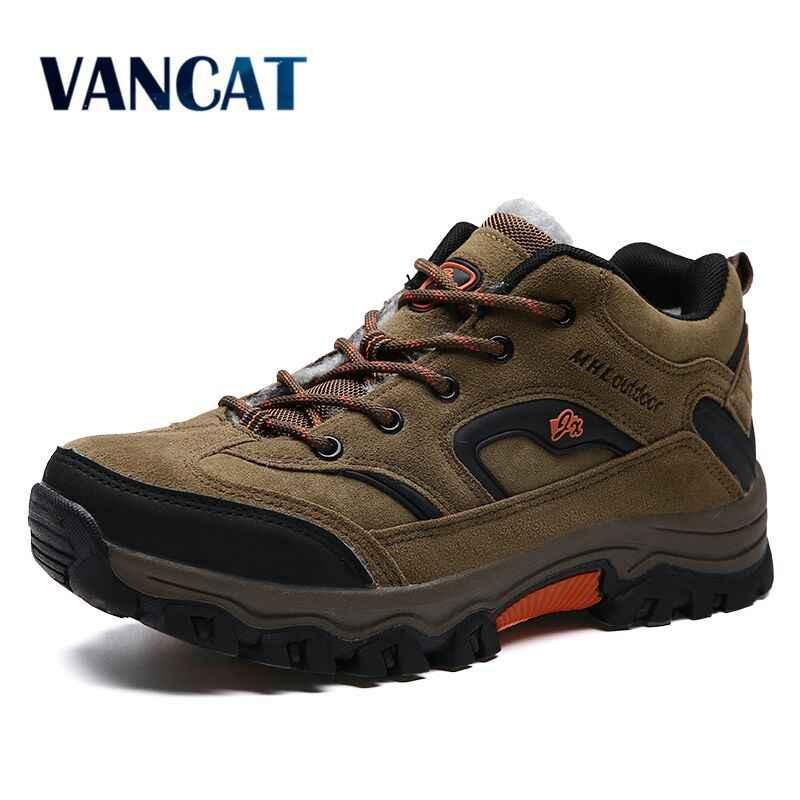 VANCAT/брендовая зимняя обувь для мужчин, большие размеры 36-47, очень теплые мужские ботинки, Сникерсы, ботильоны, теплые плюшевые зимние ботинки для Мужская обувь