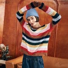 Striped Pullover Sweater Autumn