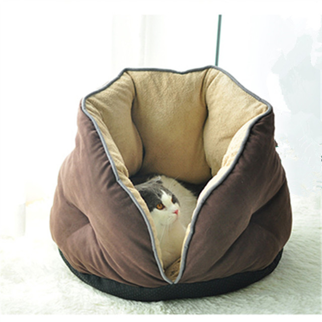 Warm Cave House Sleeping Basket Bed 2