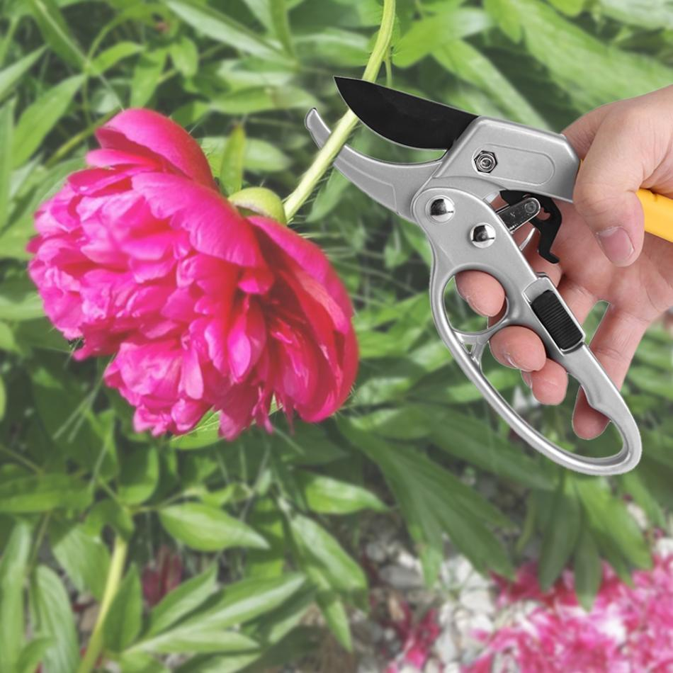WALFRONT Gardening Scissor made of High Carbon Steel for Grass Trimming and Easy Plant Cutting 5