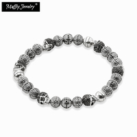 TMS High Quality 2014 New Ts Bracelet With Skull Beads Rebel At Heart Collection Wholesale Super