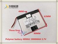 3 7 V 3000 mAH 409062 Polymer lithium ion/Li Ion batterie für MP3 MP4 LAUTSPRECHER bluetooth GPS spielzeug smart watch-in Tablet-Akkus & Backup-Stromversorgung aus Computer und Büro bei