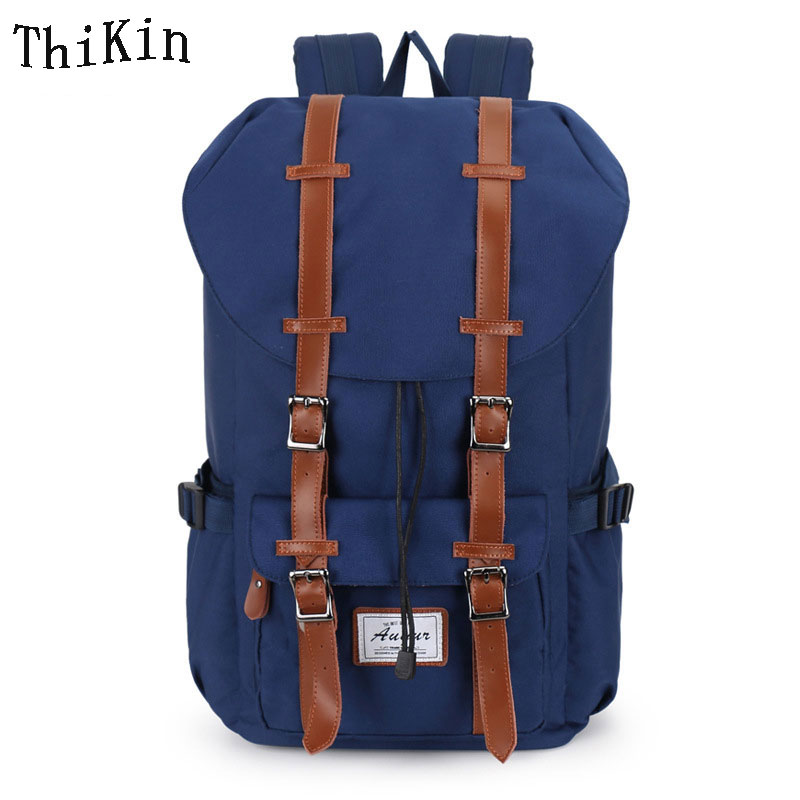 Augur  ClothBackpack for Teenage Girls&Boys Korean College Student Book Bag Large Capacity Travel 15 Laptop Women Bags augur oxford 17inch laptop men backpack large capacity student school bag for college patchwork business trip men rucksack