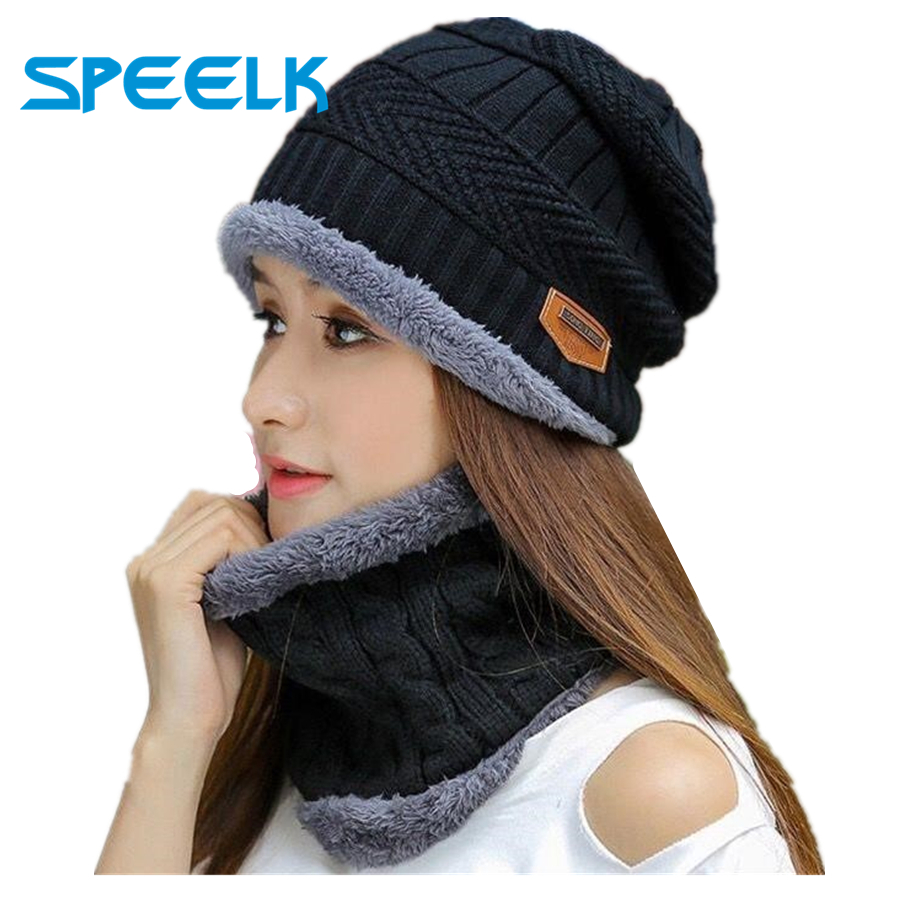 2019 New knitted   Beanies   Hat Men Women Thicking and Warm   Beanie     Skullies   Hats Winter knit Bonnet   Beanie   Caps Wholesale