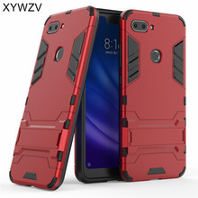 Xiaomi Mi 8 Lite Case Silicone Robot Hard Rubber Phone Cover For Youth Coque Fundas