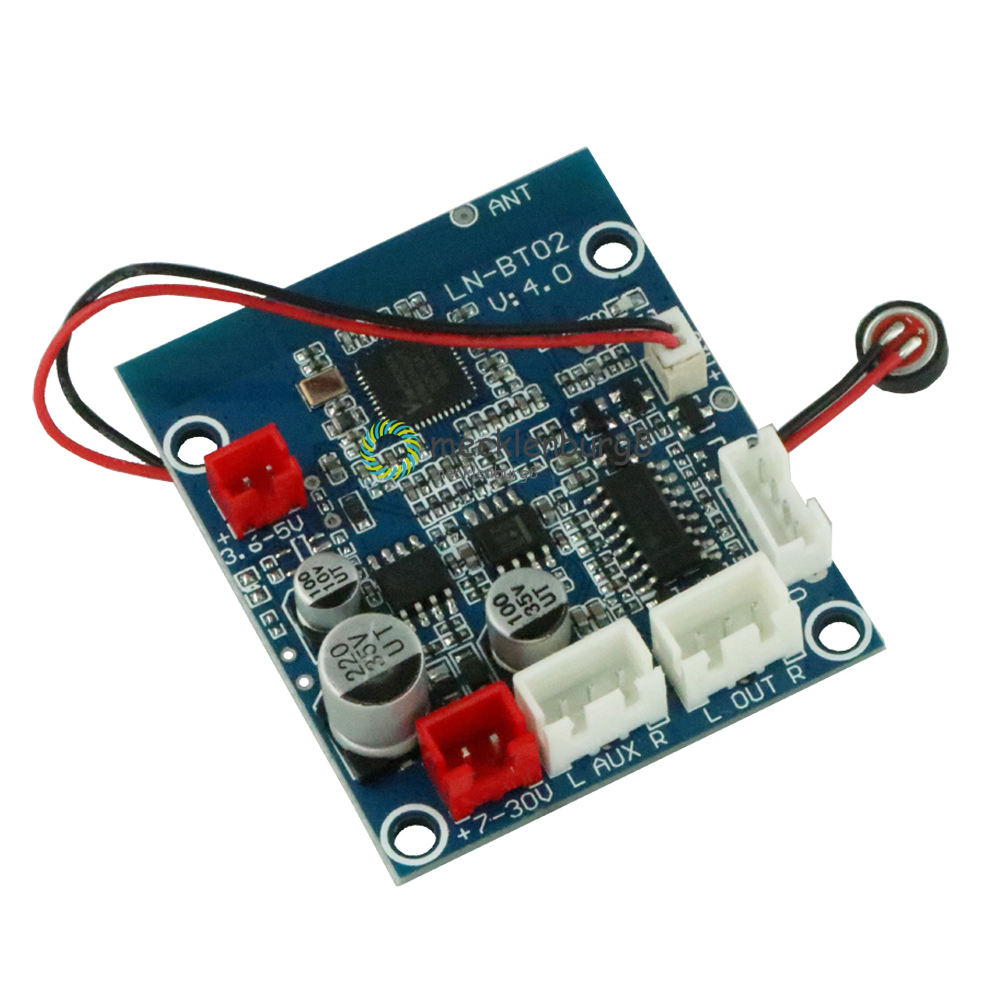 1Set <font><b>Car</b></font> Bluetooth 4.0 / 3.0 <font><b>Audio</b></font> Receiver Board Stereo Wireless Sound Module Support Bluetooth <font><b>Amplifier</b></font> Speakers For <font><b>DIY</b></font> image