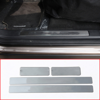 4pcs Stainless Steel Car Door Sill Protect Plate Cover Trim Accessories For Land Rover Discovery Sport 2015 2018