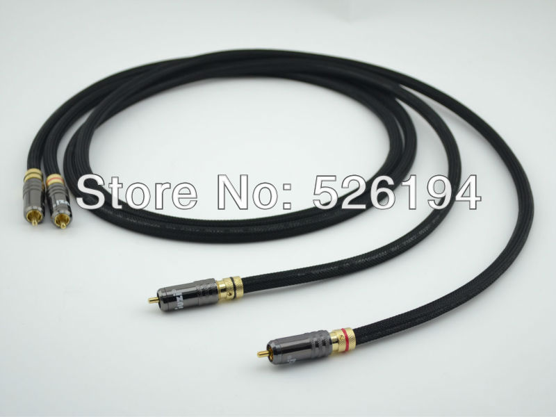 Free shipping one pair Furutech PCOCC pure copper RCA Audio Interconnect cable with WBT-0150 RCA plug connector free shipping pair furutech alpha p2 1 audio interconnect cable with silvrlink rca plug connector