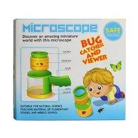 곤충 뷰어 상자 아크릴 버그 포수 돋보기 현미경 상자 과학 장난감 적립 교육 학습 기계 아이 어린