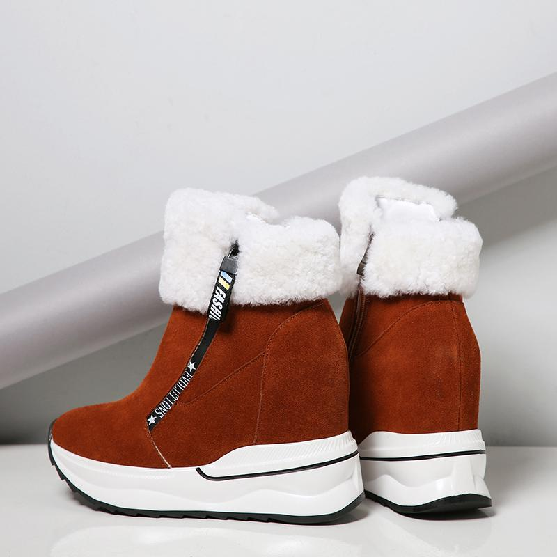 2018 big size cow suede zip platform super high round toe snow boots women thick bottom ankle boots warm casual winter shoes L282018 big size cow suede zip platform super high round toe snow boots women thick bottom ankle boots warm casual winter shoes L28