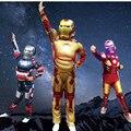 Avengers Iron Man Traje de Halloween para Niños Buzos Muscular Máscara Niños Ropa de Los Muchachos Marvel Superhero Movie Cosplay Ropa