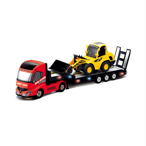 RC Truck 6CH Multi-function Trailer Remote Control Semi-Truck Car Automatic Electronic Truck Model Kids Hobby remote control car detachable kids electric big rc container truck trailer radio wireless truck model toy with sound
