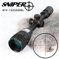 Снайпер NT 4 16X50 AOGL Охота прицелы тактический оптический прицел полный Размеры Стекло гравированный сетка RGB подсветкой прицел