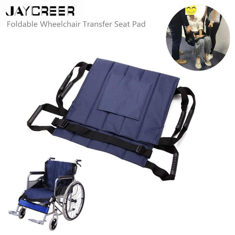 JayCreer 75X55X45CM Foldable Oxford Wheelchair Transfer Seat Pad for Patients