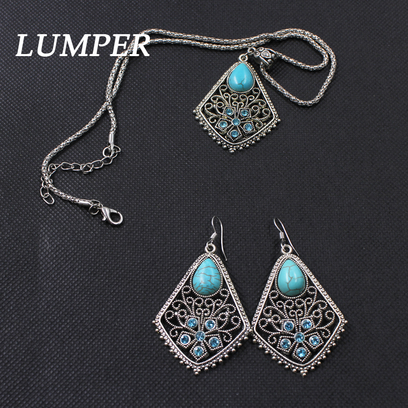 LUMPER 2017 Fashion Jewelry Set High Quality Plated Multicolor Pendant little turtle Necklace Earrings Set 1010