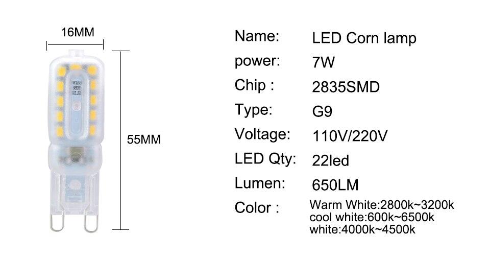 G9 LED Bulbs 220V 110V Dimmable (3)