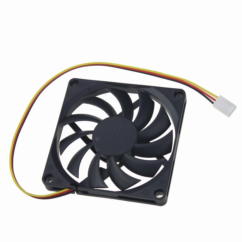 Gdstime 2pcs/lot CPU Cooler 80mm 8CM 3Pin 12V DC Brushless Silent Computer PC Case Cooling Fan 80x80x10mm 1 2 5pcs 3 pin cpu 5cm cooler fan heatsinks radiator 50 50 10mm cpu cooling brushless fan ventilador for computer desktop pc 12v