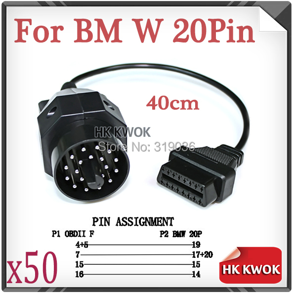 For Bmw Pin Male To Pin Female Obd Cable Car Auto Diagnostic Connector Adapter Tool   X on 16 pin obd connector pinout
