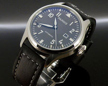 47MM parnis black Dial big Automatic mens WATCH luminous hand date