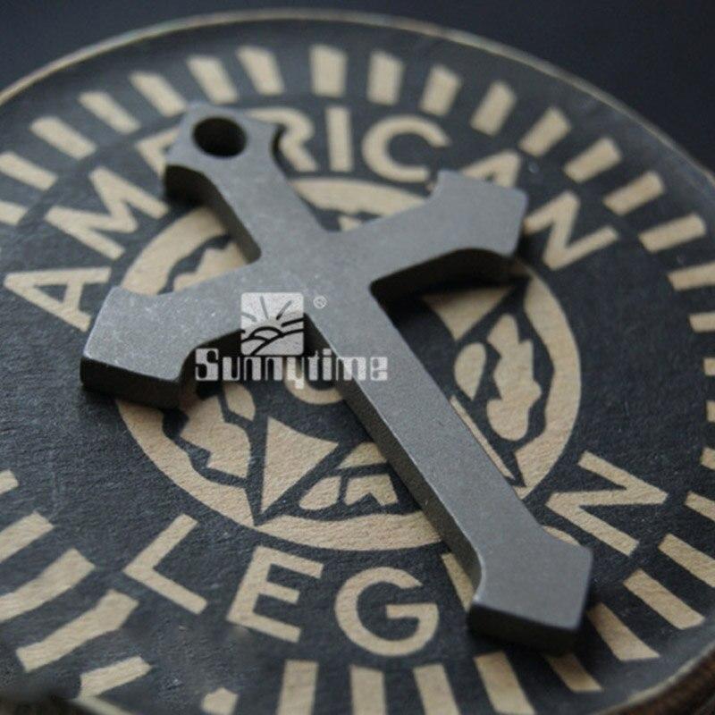 Trinketcsgo edc titanium tc4 aleación colgante cruz colgante llavero cadena llav
