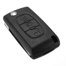 3 кнопки дистанционный смарт ключ-Брелок чехол складной Флип авто ключ оболочка Uncut Blade для Citroen C2 C3 C4 C5 C6 Picasso