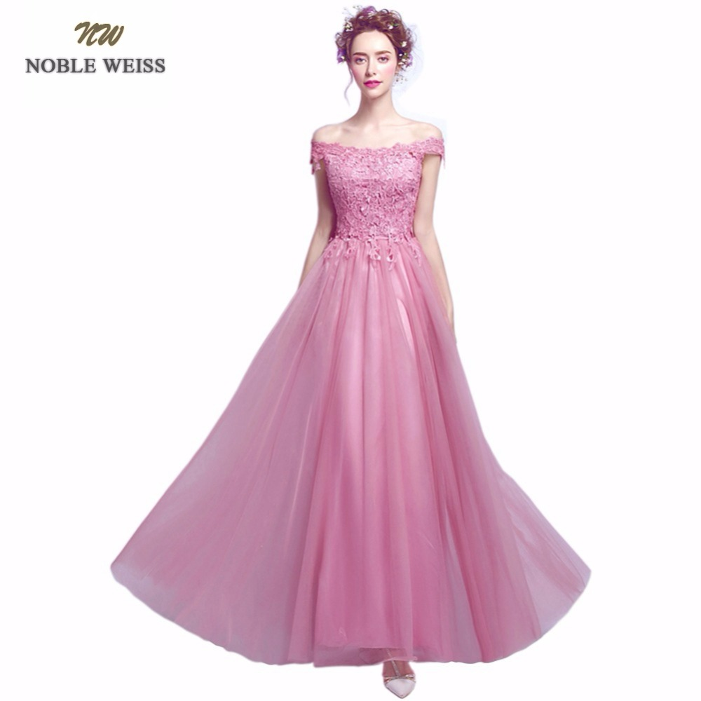 NOBLE WEISS 2019 Sexy Evening Dress FLoor Length A Line Dark Red Lace Tulle Robe De