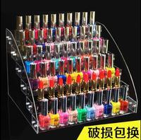 Nail polish display rack acrylic plastic transparent nail salon display rack cosmetic storage rack grid